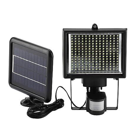 Lámpara solar LED impermeable proyector solar exterior 64 LED ...