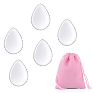 Clear Silisponge Silicone Makeup Applicator Gel Foundation Makeup and Puff BB Cosmetic Beauty Tools Blender 5 Pcs