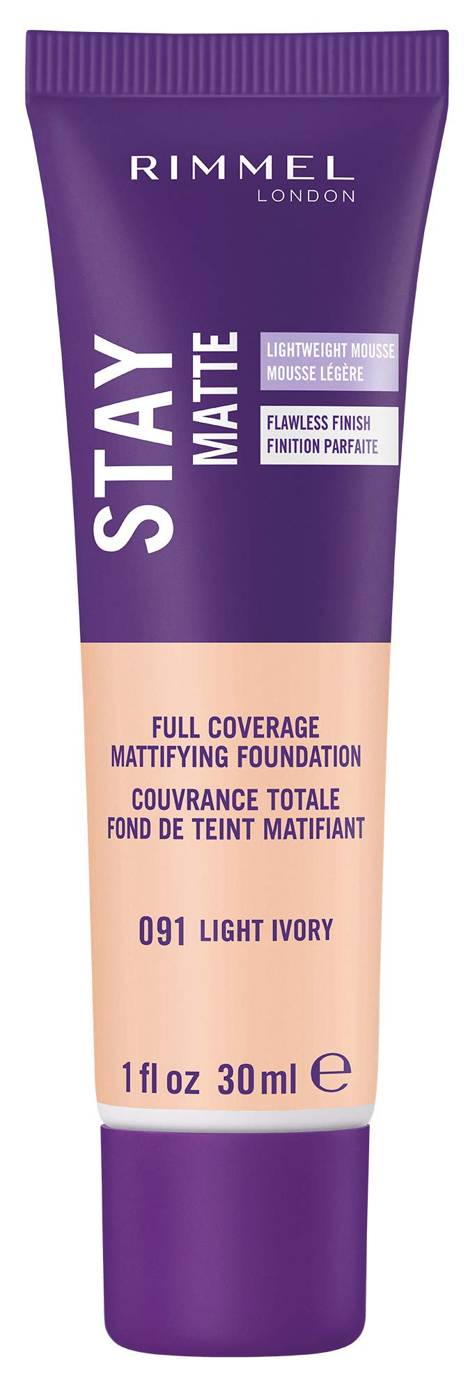 Rimmel Stay Matte Foundation, Light Ivory, 1 Fluid Ounce