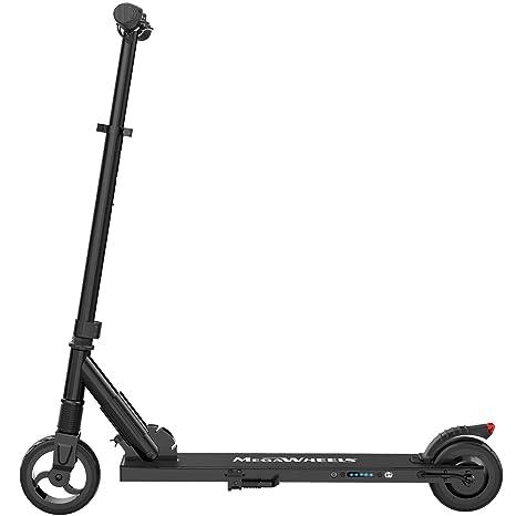 M MEGAWHEELS Scooter electrico, Patinete electrico es Ajustable la Altura para los Adolescentes y los Adultos. (Black)
