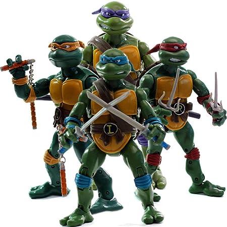 JXMODEL Las Tortugas Ninja De Figuras 4 Piezas Anime Juegos ...