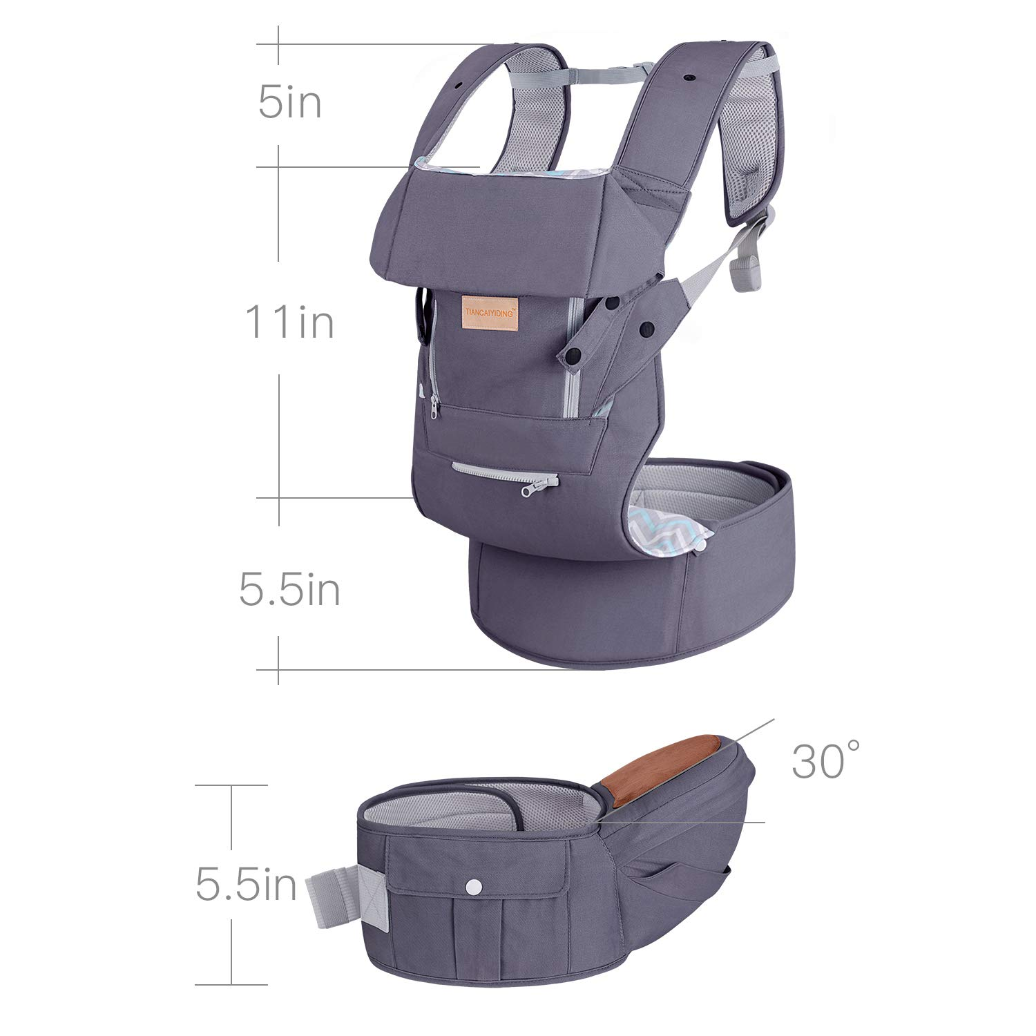 Gray Baby Carriers