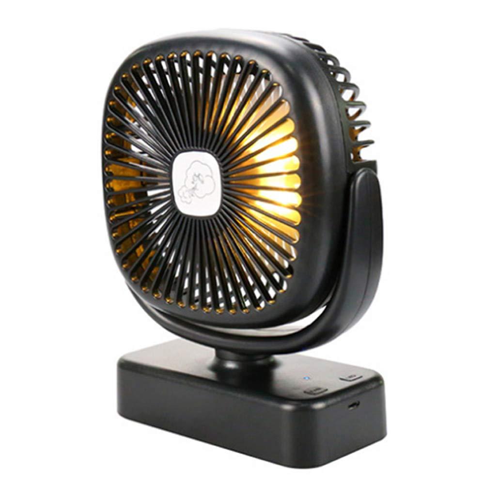 Phnirva Portatile LED Lanterna da Campeggio Soffitto Ventola Mini Ventilatore da Tavolo Ricarica USB Kit AllAperto Emergenza