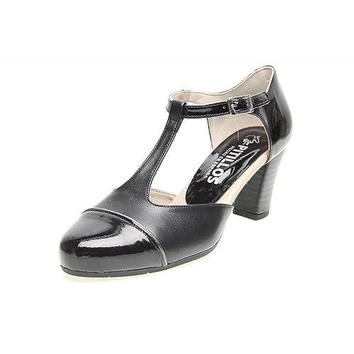 Zapatos Pitillos 1306 - Gilda Charol Tacón Alto Negro mujer 5ff8c0567842