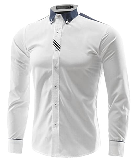 Beancan Cotton Men Shirt Solid Male Dress Shirt Fashion Casual Long Sleeve Business Formal Shirt New