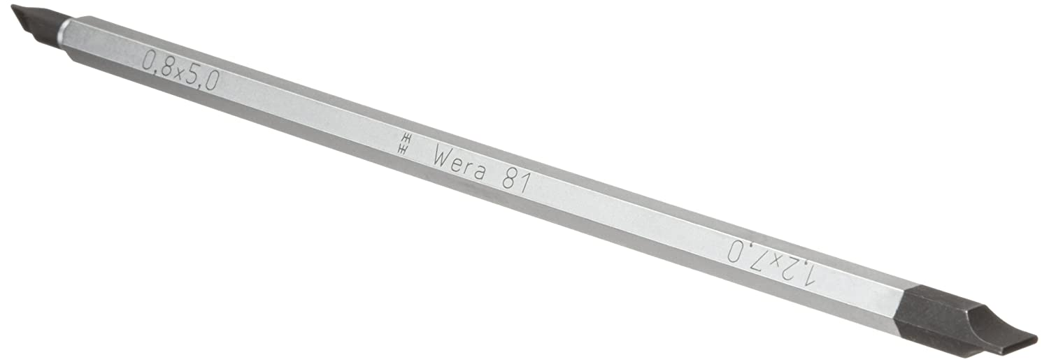 Wera 05002913001 Vario 81 SLOTTED Combination Blade 5.0//0.8 mm and 7.0//1.2 mm x 175 mm Blade