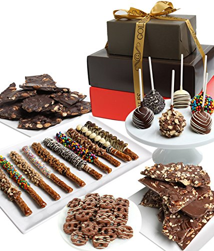 Superior Deluxe Belgian Chocolate Covered Gift Tower