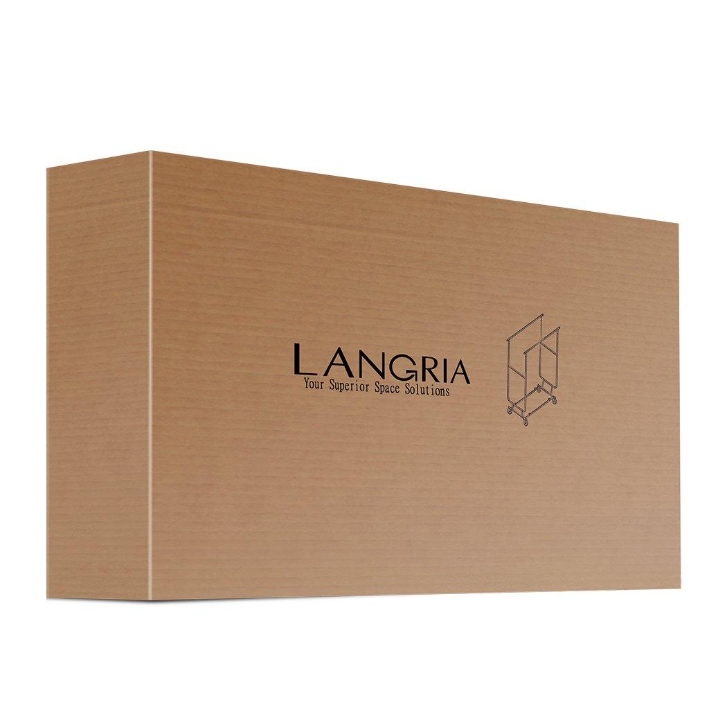 mit 4 Rollen Halten bis 250 lbs 140-165 cm H x 128-188 cm W x 55 cm D LANGRIA Kleiderst/änder ZusammenklappbarRollbar Garderobenst/änder mit 2 Verstellbare Kleidertange