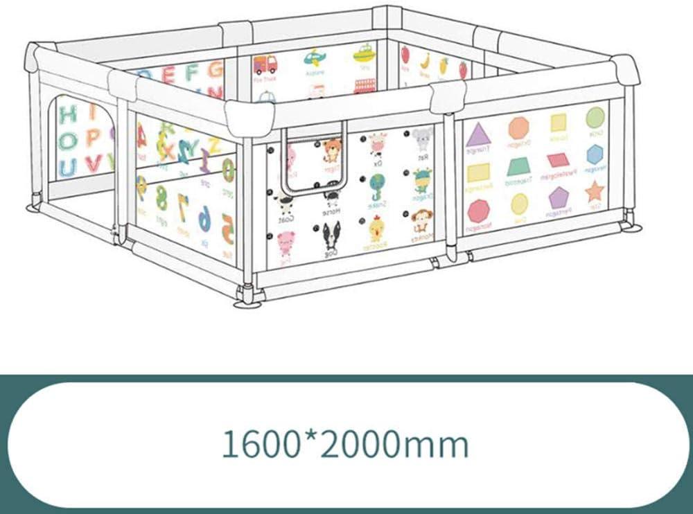 MFLASMF Baby Klapp Laufstall Kinder Sicherheit Spielplatz tragbare Kleinkinder Sicherheitszaun Home Indoor Outdoor Aktivit/ätszentrum Spielstift f/ür Babys Kleinkind Neugeborene-120 * 120 * 68 cm