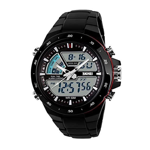 Elegante Aire libre Watch Movimiento Hombre Estudiante Personalidad Relojes digitales-A: Amazon.es: Relojes