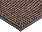 """NoTrax 117 Heritage Rib Entrance Mat, for Lobbies and Indoor Entranceways, 4' Width x 6' Length x 3/8"""" Thickness, Brown"""