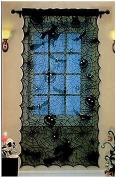 Amazon De Halloween Dekoration Schwarze Fledermause Spinne Hexe Halloween 42 X 84 Halloween
