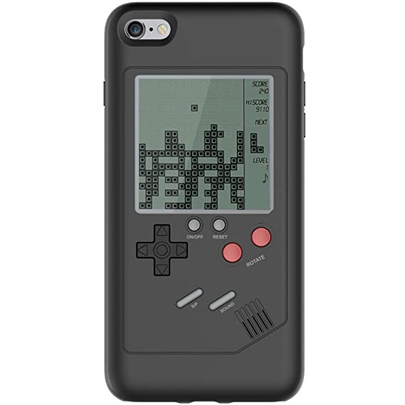 info for 59711 bd6c7 iPhone 6 Plus Game Case Game-Boy Tetris iPhone Case Shell TPU Silicone  Protective Cover Retro Gameboy Case for iPhone 6 Plus/6s Plus VORSON (Black  for ...