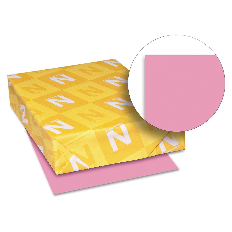 Neenah Paper 21031 Color Paper, 24lb, 8 1/2 x 11, Pulsar Pink, 500 Sheets