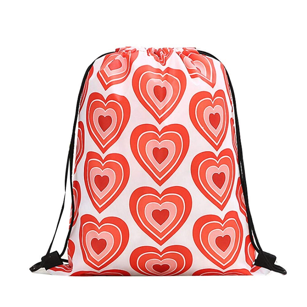 Gym Bag Retro Valentines Day Red Heart Love You Women Canvas Duffel Bag Cute Sports Bag for Girls