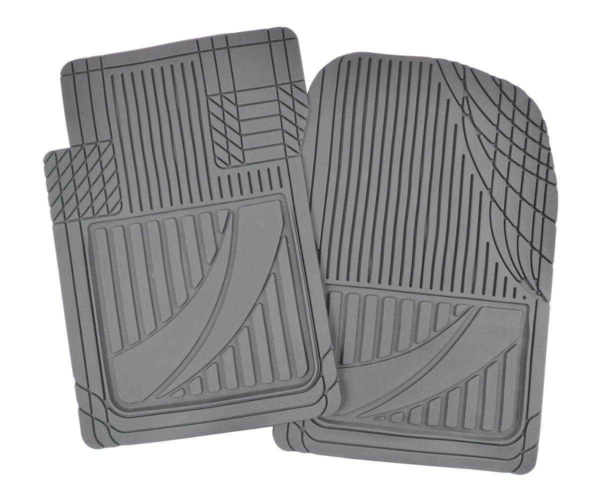 4pc HD Rubber Floor Mats for Car SUV Auto All Weather Plus Black Motor Trend MT-794-BK FlexTough Advanced Performance Mats