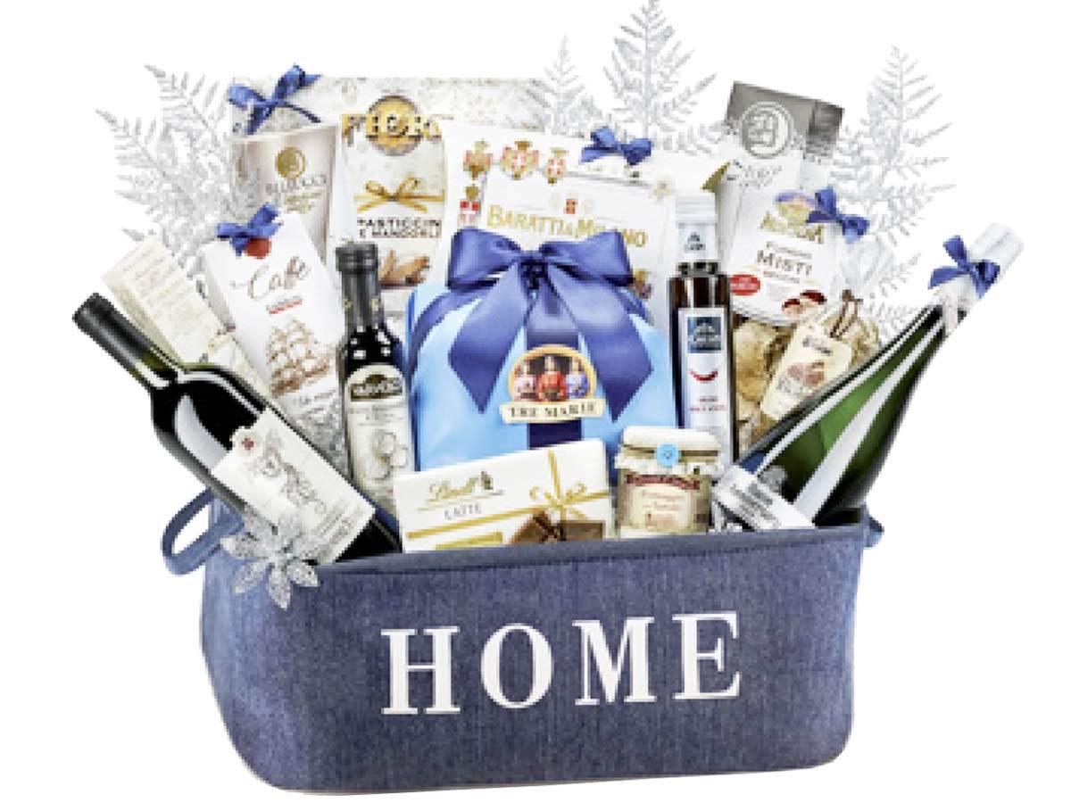 Festliche Familie Weihnachtskorb – Geschenk mit italienischen ...