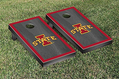 NCAA Iowa State Cyclones Onyx Stained Border Version Cornhole by Victory Tailgate
