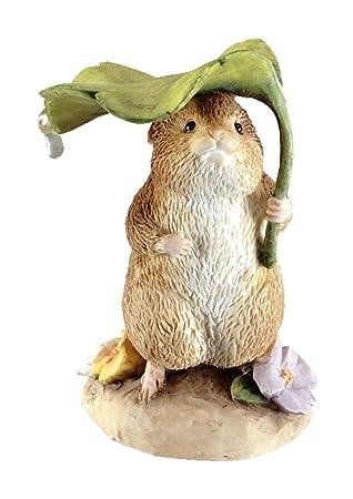 Beatrix Potter Miniature Figurine – Timmy Willie under Leaf A2354