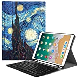 Fintie iPad Pro 10.5 Keyboard Case with Built-in Apple Pencil Holder - SlimShell Protective Cover with Magnetically Detachable Wireless Bluetooth Keyboard for Apple iPad Pro 10.5 inch, Starry Night