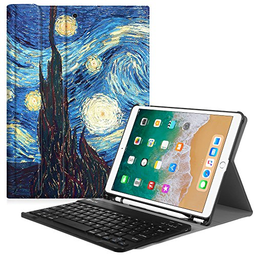 Fintie Keyboard Case with Built-in Apple Pencil Holder for iPad Air 2019 3rd Gen/iPad Pro 10.5