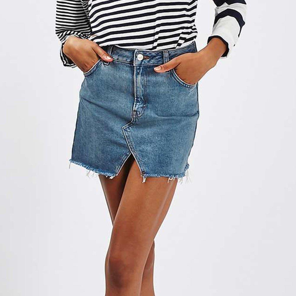 79af55eff9 Mujeres Falda de Mezclilla - Moda Slim Fit Minifalda Cintura Alta A-lìnea  Skirt Casual Falda Streetwear para Verano Primavera Plus Size  Amazon.es   Ropa y ...