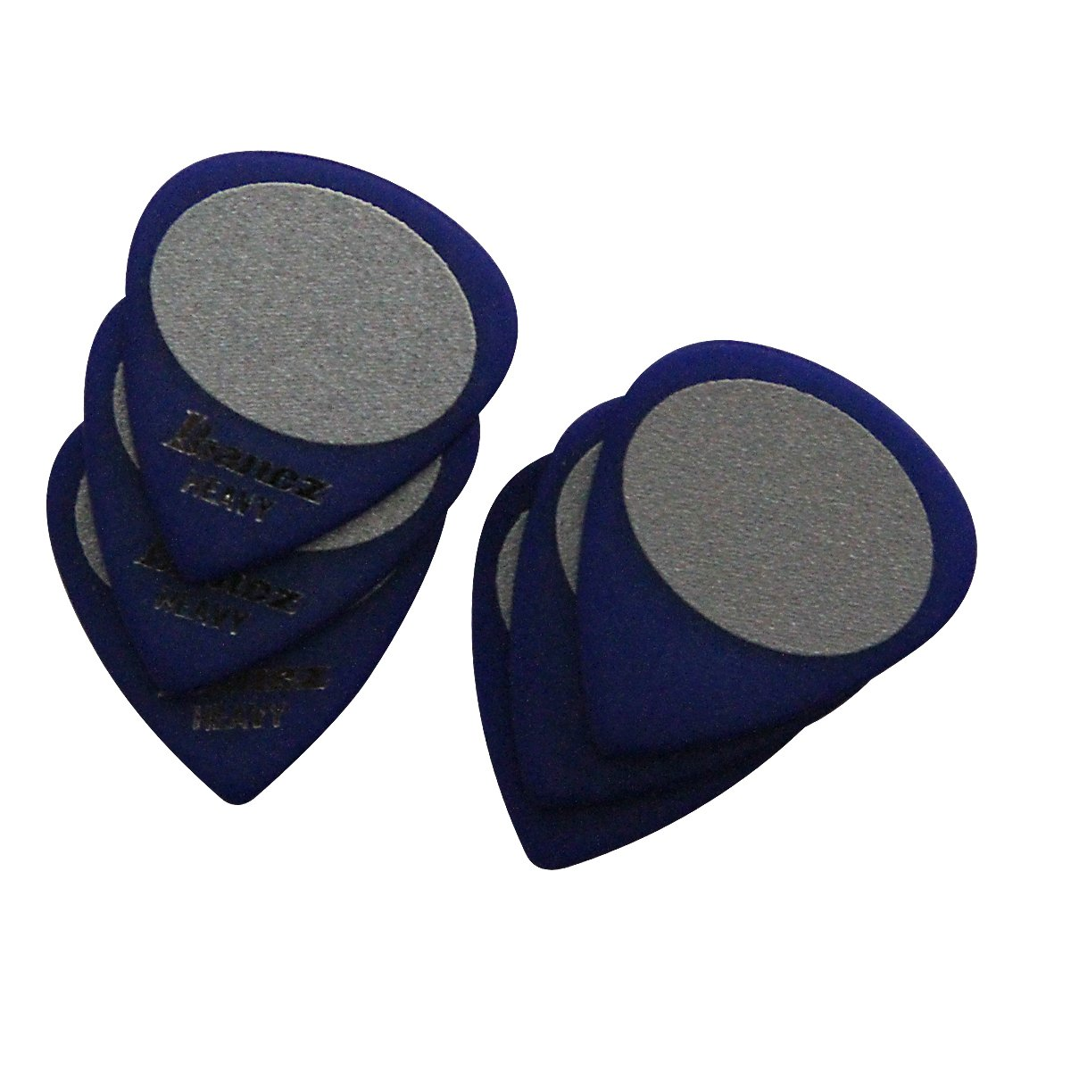 Ibanez BPA16HS-BL Grip Wizard Serie - Plektren Sandgrip Heavy (6 Stück) blau