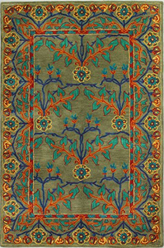 Bashian Wilshire collection HG122 hand tufted 100% wool area rug, 3.9' x 5.9', (Arts & Crafts Rug)