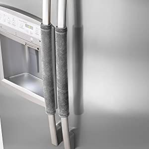 OUGAR8 Refrigerator Door Handle Covers,Keep Your Kitchen Appliance Clean from Smudges, Fingertips, Drips, Food Stains, Perfect for Dishwashers(Gray)