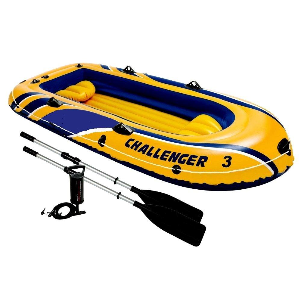 Skroutz カヤック ウォーターラフト フィッシング 3人用 空気注入式 ボート 湖 川 ウォータースポーツ ポンプとオール付き ビニールPVC 高耐久構造   B074MQTC4R