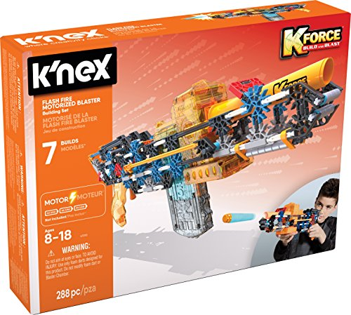 Motorized Set (K'NEX K-Force – Flash Fire Motorized Blaster Building Set – 288 Pieces – For Ages 8+ Engineering Education Toy)