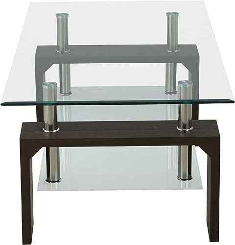 DUNTANG Rectangle Glass Coffee Table