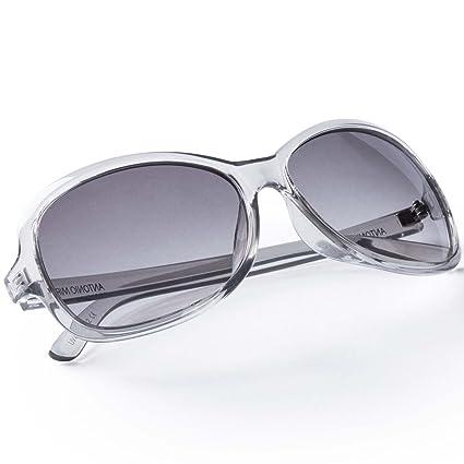 83248fa22f ANTONIO MIRO Gafas Mujer - UV400 transparentes ligeras - Lentes solares  elegantes con Funda Rígida Cremallera