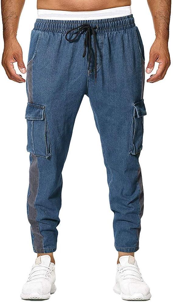 Pantalones Vaquero para Hombre, Pantalones Casuales Moda Trabajo ...