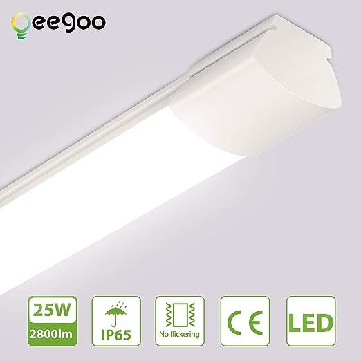 Oeegoo Tubo de LED 120cm, Ip65 Impermeable Luz de techo de ...