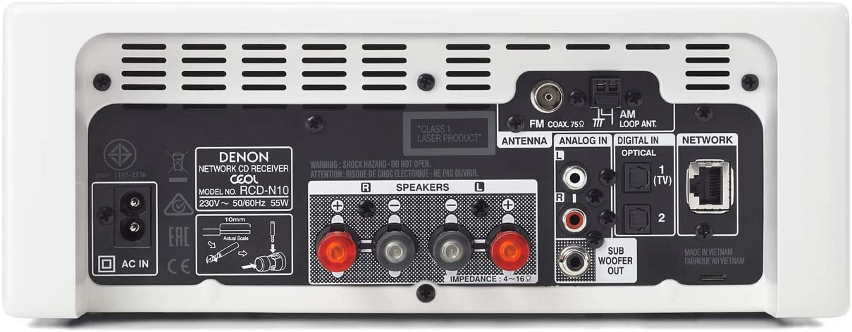 Denon Ceol/N10 - Microcadena con conexión en Red, Color Blanco ...