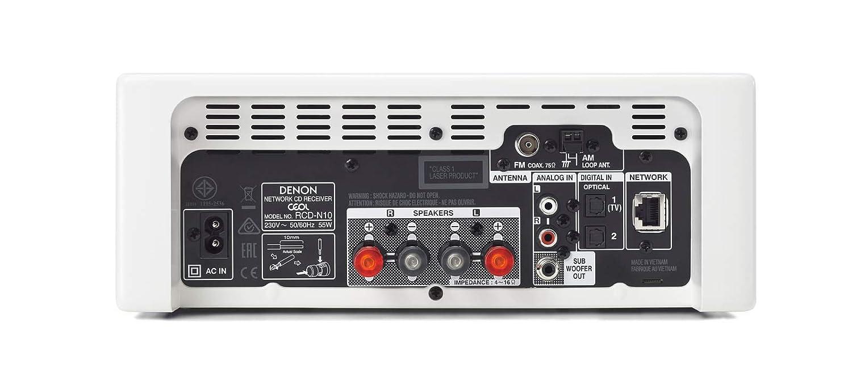 Bianco Denon Rcd-N10 Stereo Compatto
