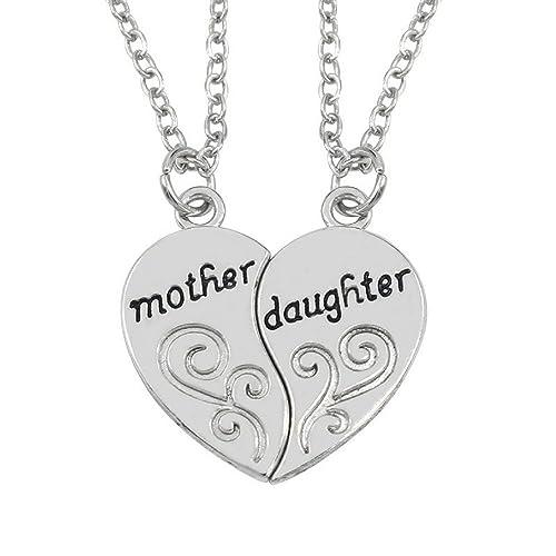 Amazon luvalti mother daughter pendant necklace 2x20 luvalti mother daughter pendant necklace 2x20 chain 2 necklace pendants aloadofball Images
