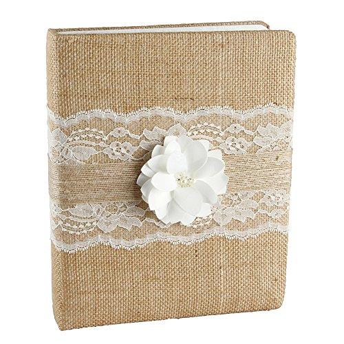Ivy Lane Design Rustic Garden Wedding Memory Book, Ivory