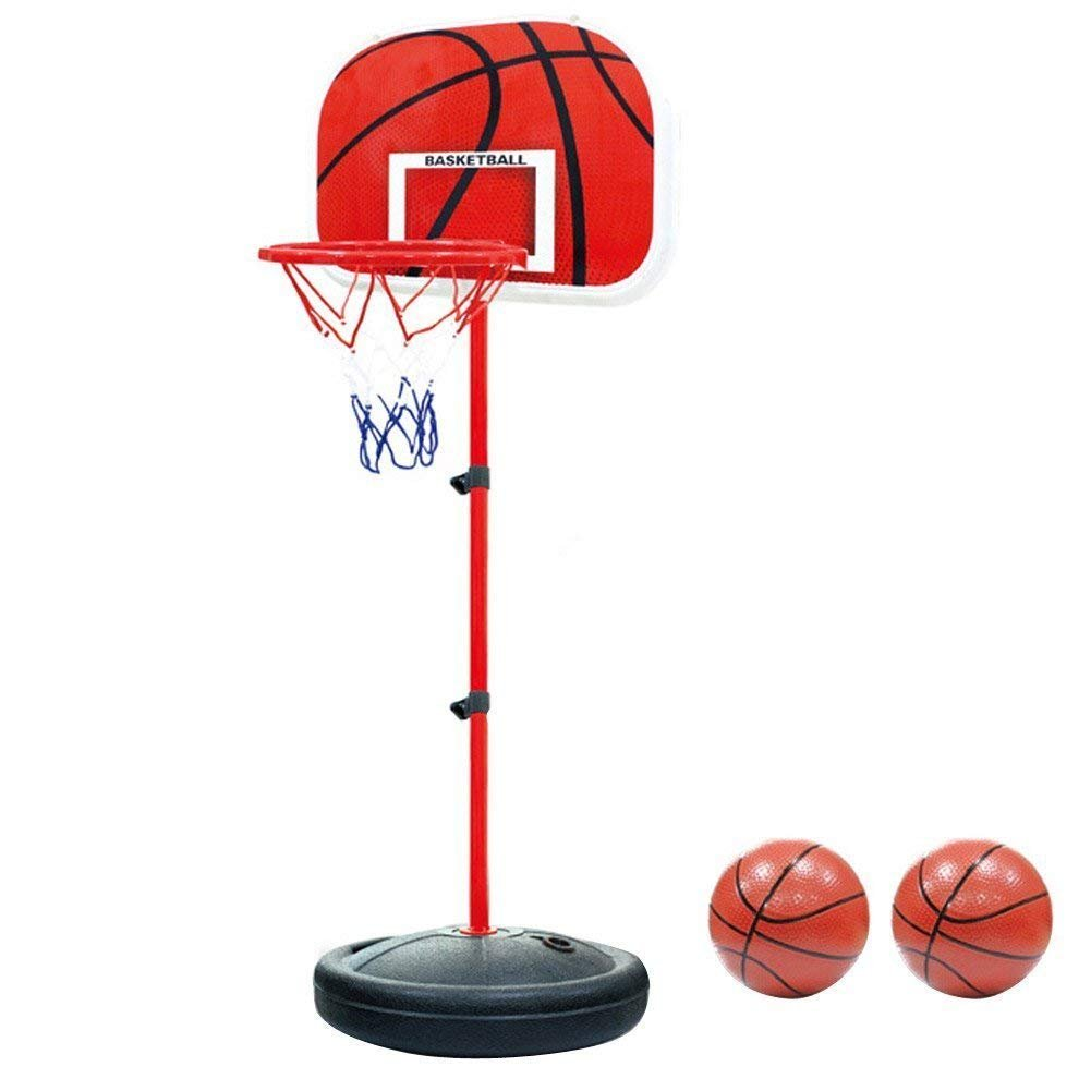 YunNasi Basketball Hoop Stand Toy Set Height Adjustable Portable for Kids ...
