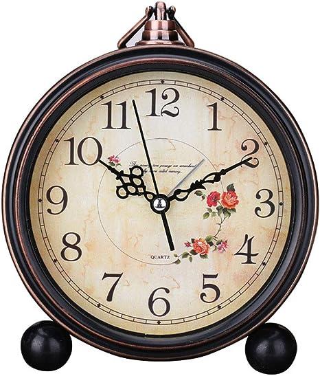 Reloj Despertador Vintage, Creativo Simple PatróN Metal Reloj De ...
