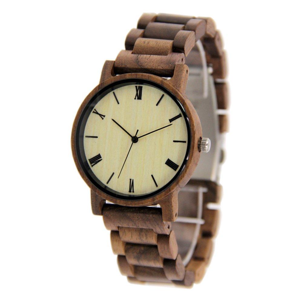 Unisex Wooden Watches Casual Walnut Wooden Gift WirstWathces