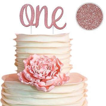 Amazon.com: Decoración para tarta de primer cumpleaños, una ...