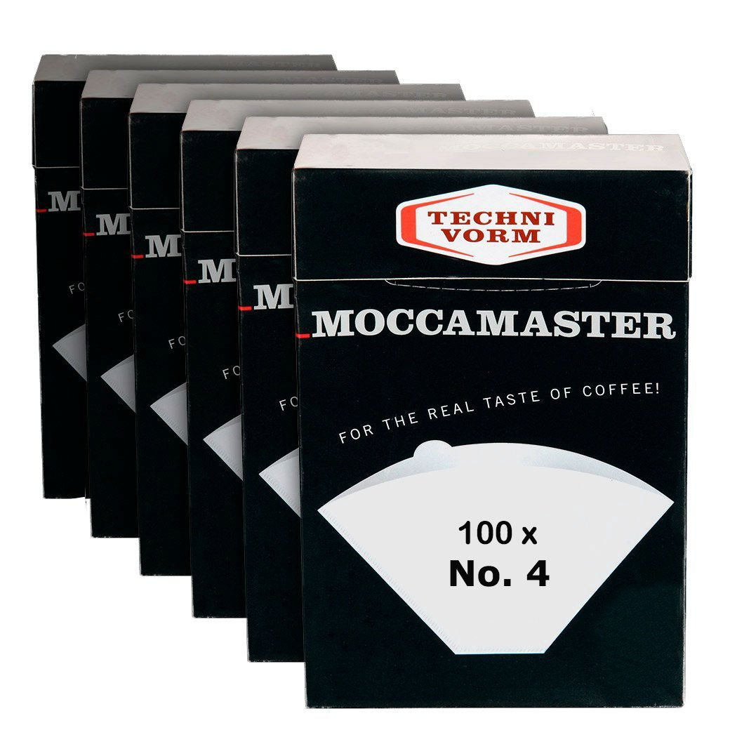 Technivorm Moccamaster 85022 Moccamaster #4 Paper Filters, White (6)