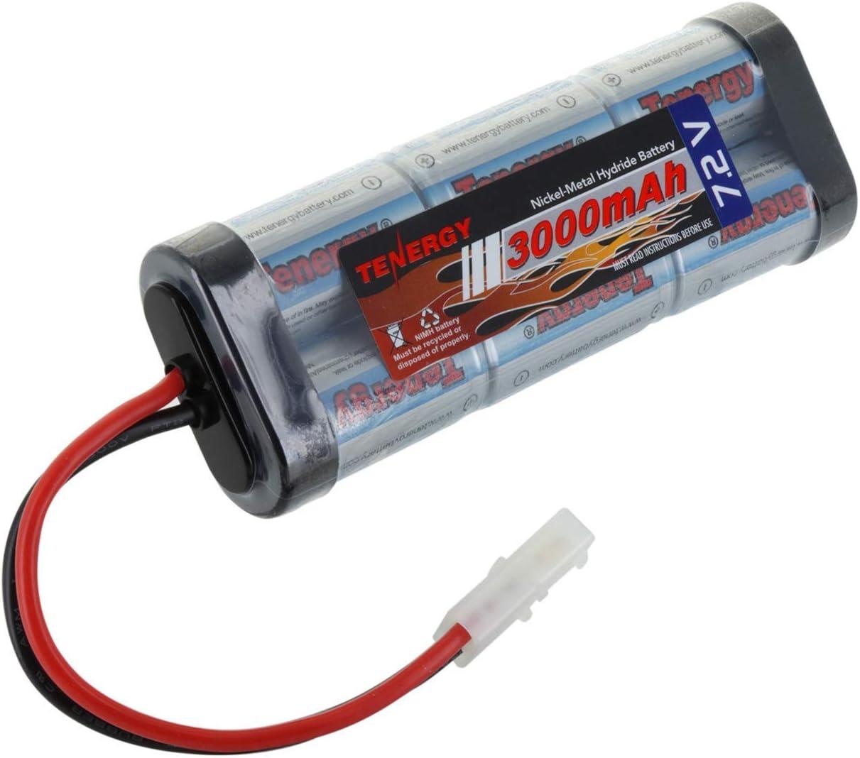 Batería alta capacidad 7.2V, 6 celdas, 3000 mAh, plana NiMH