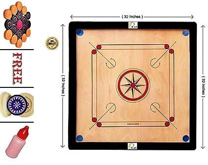 M ART PRO Wooden Carrom Board Full Sizes 32 INCH in PAKKI PLY.