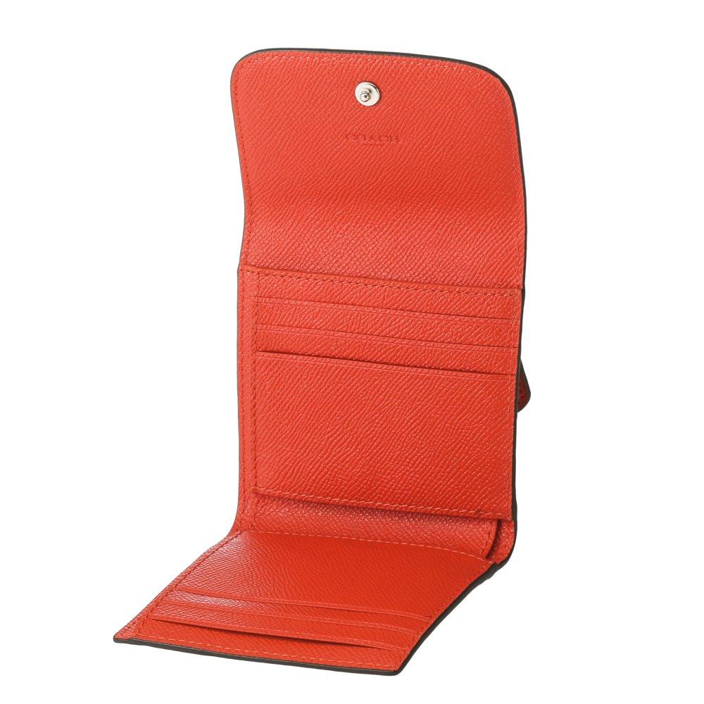9244bd04c097 Amazon   [コーチ] COACH 財布 (三つ折り財布) F87588 オレンジレッド SVN2C レザー 三つ折り財布 レディース  [アウトレット品] [並行輸入品]   COACH(コーチ)   財布