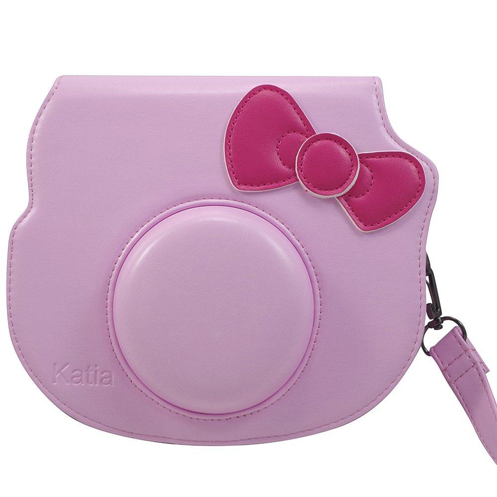 0b315109eb46 Katia Instant Camera Case with PU Leather Camera Strap  Amazon.co.uk   Electronics