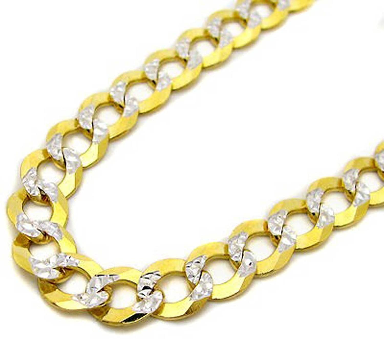 lobster gold solid necklace clasp chain diamond rope yellow itm cut n