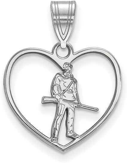 Amazon.com: West Virginia in Heart Pendant (Sterling ...